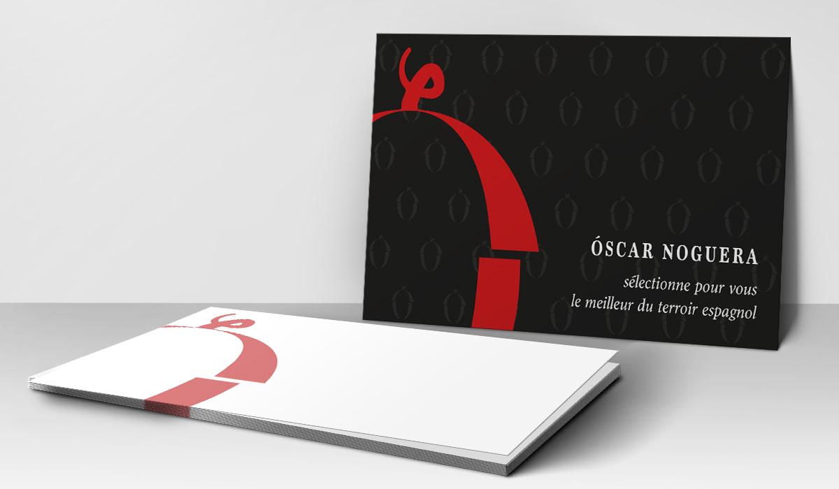 Cartons de correspondance Oscar Noguera - création print